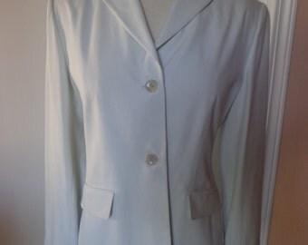 Banana Republic Silk Jacket/Blazer, 2-Button, Size 6, Fully Lined, Misty Green