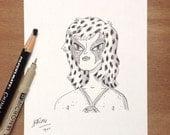 Original Drawings From Glasgow ComiCon - Cheetara, Garfield, Bird Person