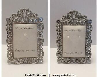 Wedding ring holder rectangle diamond frame: engagement ring holder, bridal shower gift, for her, ring stand