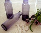 Vintage Purple Apothecary Bud Vases 1980s