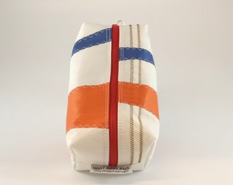 Large Dopp Kit, Shaving Kit, Groomsman Gift, Travel Bag, Toiletry Bag, Makeup Bag, Sail Bag, White Bag, Blue Bag, Orange Bag (DL11)