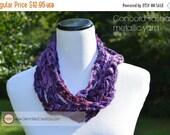 ON SALE Infinity Scarf {hand crocheted} Sashay Metallic Concord