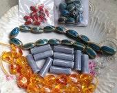 Destash Clay Beads Mixed Bead Lot Supplies DIY Collection