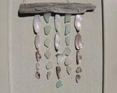 Driftwood MOBILE Beach Glass Shell Mobile Sea Glass Mobile Cottage Decor
