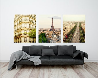 "Set of Paris photographs, Paris photography, Paris gallery wall art - ""Verdant Paris"""