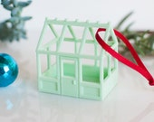 Victorian Greenhouse Holiday Ornament in Mint