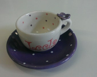 Personalized Tea Cup & Saucer