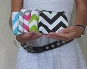 Chevron coin purse. Zipper pouch wallet. Design your Own. 11 Chevron Colors Colored Zipper. GBK 2014 Golden Globes Celebrity Gifting Lounge.