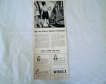 Windex,Windex Ad,Home Cleaning Ad,Kitchen Decor, Old Paper,Vintage Windex Ad,Display Ad,Classic Ad,Retro Cleaning Ad,Home ad,Windex,Home