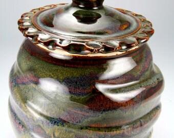 Brown urn/covered jar