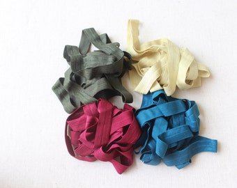 Fold over elastic  4 colors 2 yards of each color 5/ 8 wide