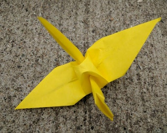 "100 6"" yellow origami paper cranes wedding party decoration"