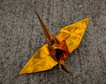"100 6"" foil gold origami paper cranes wedding party decoration"