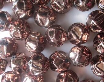 Metallic Acrylic Beads 18mm 12 Beads