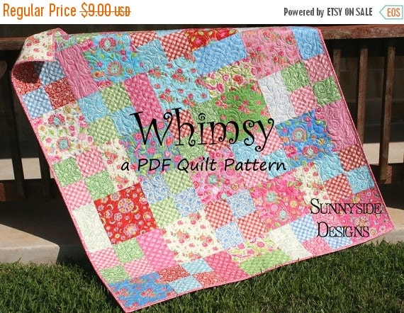 Layer Cake Quilt Pattern Whimsy Moda Baby By Sunnysidefabrics