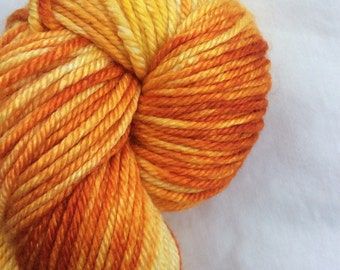 "New Line - ColorPlay - Hand-dyed, Hand-Painted 50/50 SW Merino Silk DK Yarn, 231 yds, ""SunSpot"" Eco-Friendly, DFW Yarn Crawl Sponsor"