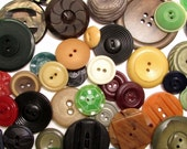 Early Plastics: Vintage Button Assortment - Set of 50 in a Variety of Sizes, Colors and Early Plastic Materials