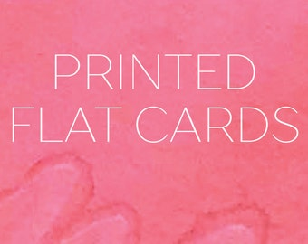 Printed Flat Cards - Add on, Only for Half Pint Prints Designs, Photo Cards, Christmas Cards, Announcements, Invitations, Invites