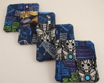Doctor Who 2 pattern coasters Set of 4