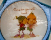 Consider Yourself Loved Lasting Treasures Mini Plate MIB 1978 Pixies, Elves, Elf,Gift Idea Love Couple