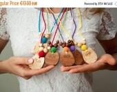FLASH SALE Owl Nursing Necklace - Choose your color & wood type