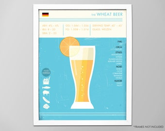 Wheat Beer Art Print, Beer Print, Beer Poster, Wheat Beer Print, Digital Beer Print, Wheat Beer Poster, Beer Art Print, Wheat Beer Art Print