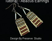 Seed Bead Earring Tutorial, Earring Tutorial, Abacus Earring Tutorial, Beginner Seed Bead Tutorial, DIY Earrings