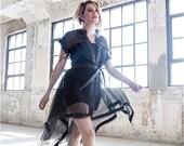KASIA KULENTY - Organza Leather Trimmed Duster Dress
