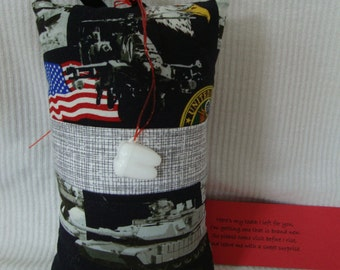 Tooth Fairy Pillow with tooth holder: Toothfairypillow, Plastic tooth holder, Black, Gray, Flag, US Army, Tooth, Fairy