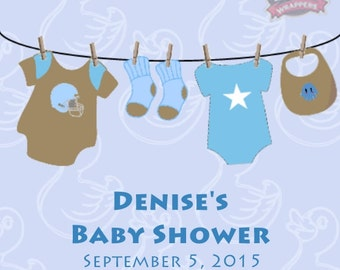 Baby Boy Clothesline Lip Balm, Baby Boy lip balm, baby shower favors, baby boy favors, shower favors, baby boy favors, Set of 10