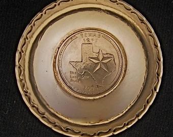 Texas State Quarter German Silver Handmade 1 Tblsp. Measure