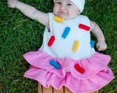 Baby Cupcake with Sprinkles costume - for Halloween or as a photo-prop - Size 6-9 months - Ready to ship