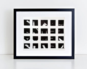 Abstract black and white painting minimal Fine Art Contemporary Zen Ink Wash modern blocks