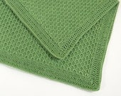 Knitted Baby Blanket - Olive Green