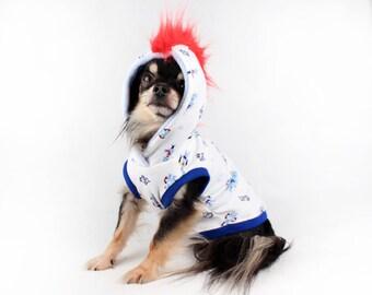 Dog Hoodie Cute Robot Mohawk sleeveless dog shirt