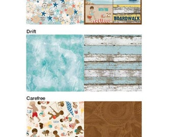 "BoBunny's ""Boardwalk"" Collection Set of 12x12 Papers"