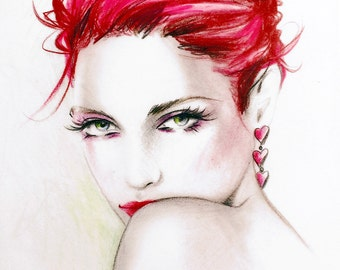 "Original Colored Pencil ""Heartbreaker"" By Jennifer Janesko"