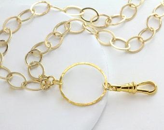 Gold Chain ID Badge Lanyard, Lanyard, Gold Lanyard, Gold ID holder, Gold badge holder, Gold Chain id holder, gold chain badge holder