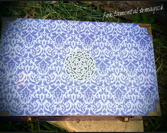 Celtic knot altar chest : wicca, wiccan, witchcraft, ritual, pagan