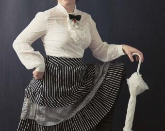 Black & White Stripe Costume, Re-imagined Victorian Costume, Alice in Wonderland, Lolita Costume, Lolita, Alice, Cosplay Costume