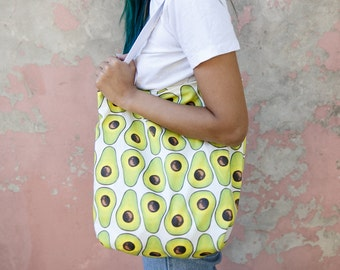 Avocado printed tote bag