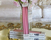 2 Boxes Vintage PINK TAPER CANDLES, Shabby Chic, Smart Decor