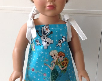Disney's Frozen Doll Dress/American Girl Doll Clothes/18 inch Doll Clothes