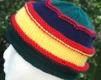 child's rainbow marley hat, size 2 to 3 yrs