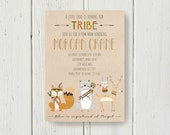 DIY Tribal Woodland Animal Invite Baby Shower