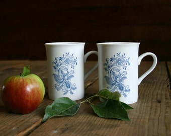 Swedish Rosemal Coffee Mugs