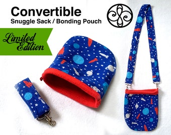 LIMITED EDITION Space Rockets Convertible Snuggle Sack Bonding Pouch