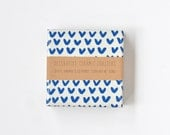 Little Cute Vs Blue on White Zig Zag Coasters Cute Pattern Ceramic Coasters
