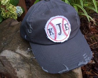 Team Ball Hat ~ Monogrammed with your initials - Team Spirit