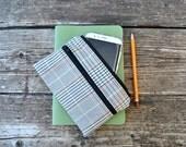 Custom Fabric zipper wallet coin pouch, clutch wallet woman multipocket case tartan black